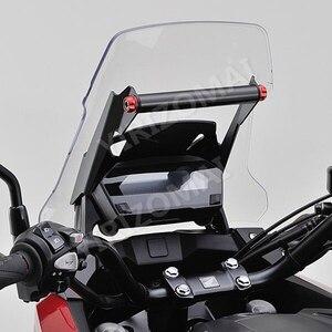 Aluminum Upper Fairing Stay Bracket GPS Mounting Bracket Holder Center Stand for Honda NC750X 2016 - 2019 Motorcycles 2017 2018