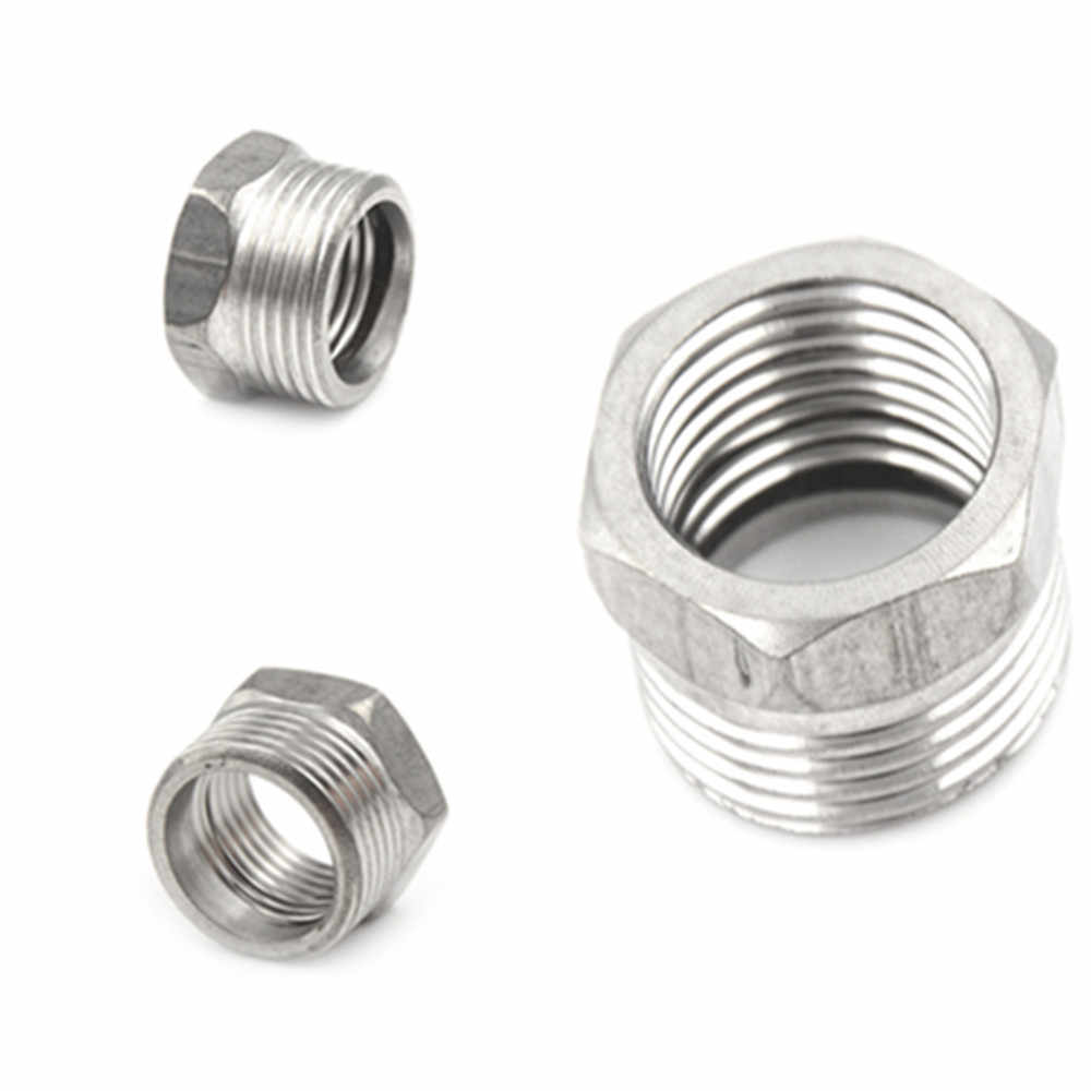 "Alta calidad 3/4 ""macho X 1/2"" Acero inoxidable hembra rosca reductor casquillo SS 304 NPT tubo 1 Uds"