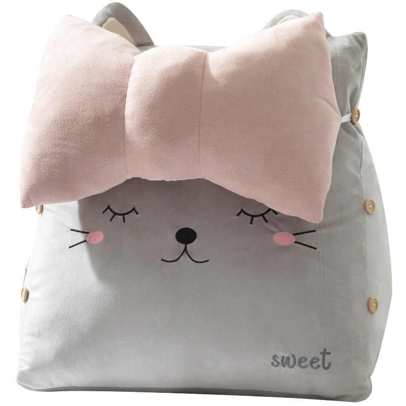 Rabbit Cat Sleeping Backrest Sofa Chair Support Cushions Bed Bay Office Waist Pillow Plush Gifts Toy 45x45cm