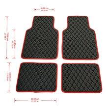 Универсальные кожаные автомобильные коврики Ковровые Коврики водонепроницаемые анти-грязные коврики для Kia Nissan camry lifan chrysler 300c все автомобили