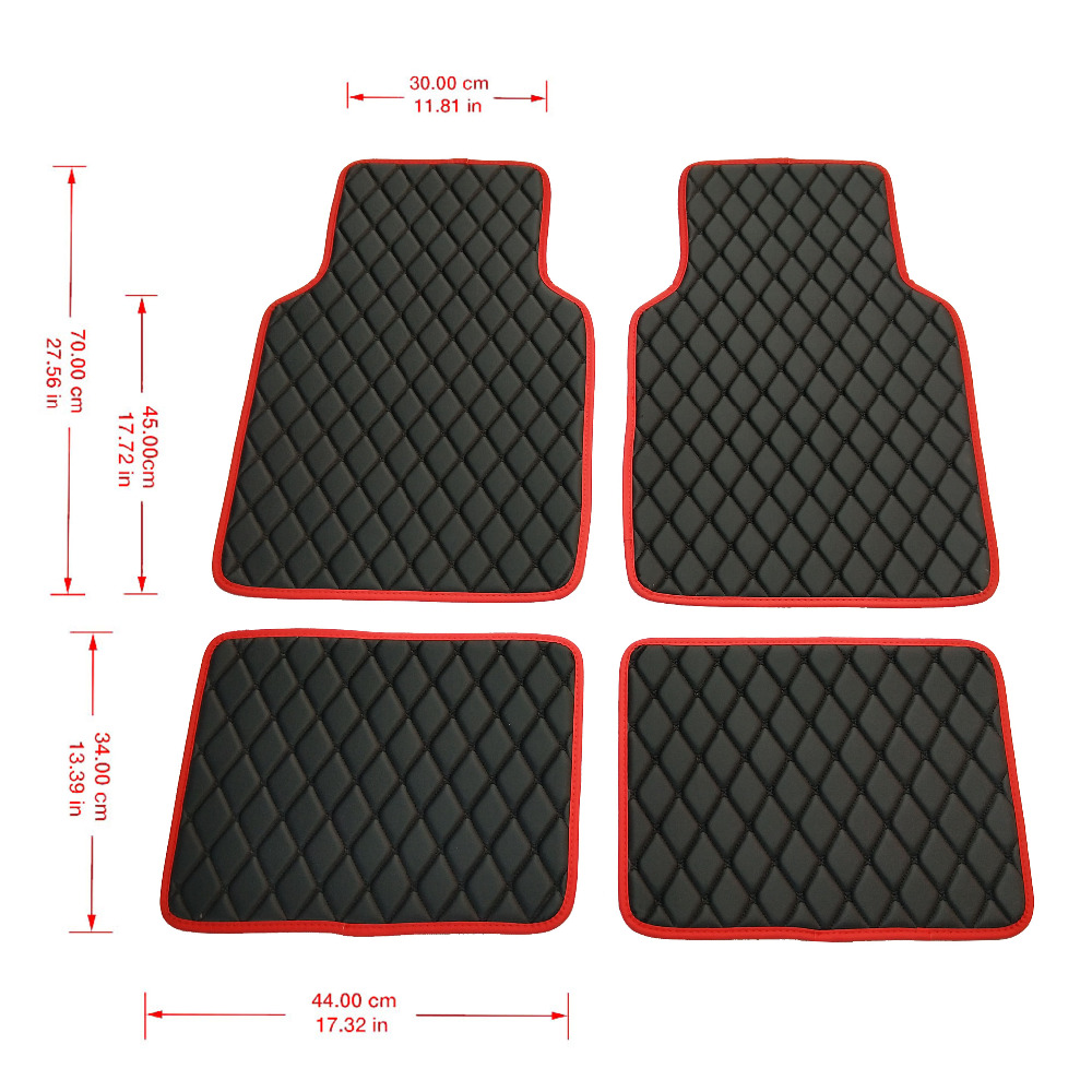 Universal Leather Car Floor Mats Carpet Mats Waterproof Anti dirty Floor Mats For kia nissan camry lifan chrysler 300c all Cars|Floor Mats| |  - title=