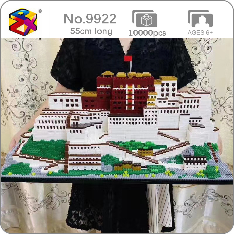 BS 9922 World Architecture Tibet Lhasa Potala Palace 3D Model DIY Mini Diamond Blocks Bricks Building Toy for Children no Box