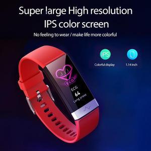 Image 4 - V19 akıllı bilezik ekg + PPG + HRV kalp hızı kan basıncı monitörü uyku spor izci akıllı bileklik Android için destek iOS