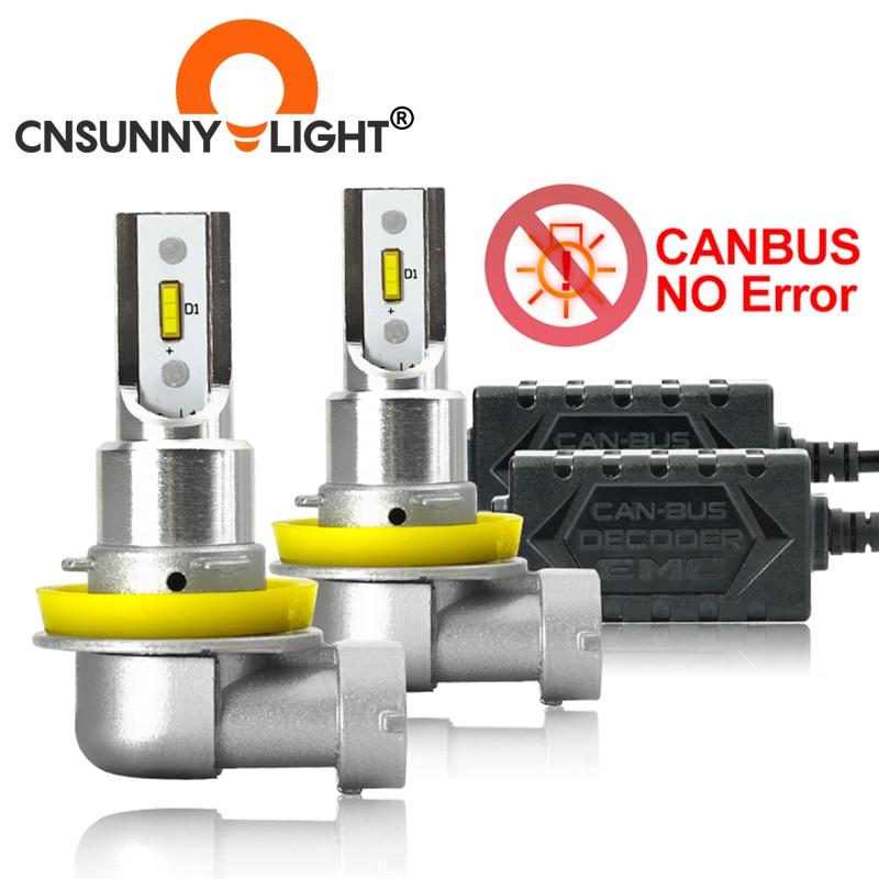 CNSUNNYLIGHT-CANBUS-LED-Auto-H11-H8-9005-9006-Lampadine-Del-Faro-Nessun-Errore-2400Lm-24-W Tutte Offerte le Aliexpress 11° Anniversario fino al 2 Aprile 2021