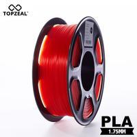 Topzeal クリア 3D プラスチックフィラメント pla フィラメント 1.75 ミリメートル 1 キロ寸法精度 +/-0.02 ミリメートル透明赤 3D プリンタ用