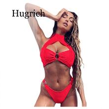 цена на 2020 Newest Women Push Up Padded Lengerie Solid Color Bathing Wear Front Choker Female Intimates Tong For Bather Underwear Set