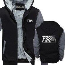 PRS Paul Reed Smith Đàn Guitar Logo Đen Áo Ấm Nam Đen chui đầu mùa đông thời trang thu đông nam dày hoodie, chất liệu cotton sbz5380