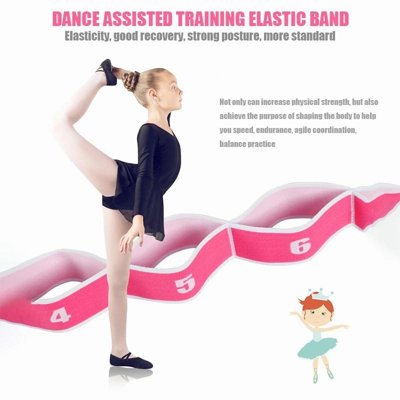 Pilates Yoga Elastic Resistance Strap Fitness Latin Training Stretch Band