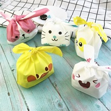 50pcs/lot Cute Rabbit Ear Cookie Bags Gift for Candy Biscuits Snack Baking Package Wedding Favors Gifts Easter Decoration