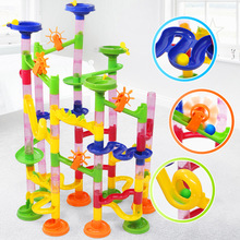 105pcs Intellectual Track Ball Building Block Educational Toy Children Luxury Marble Competition Game Fun Balls Running Toys Kid
