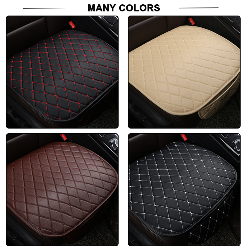 Image 5 - Automobiles Seat Covers Car Cushion PU Leather Universal Auto Interior Accessories Four Season Protect Set Chair Mat Car styling