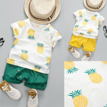2PCS Toddler Kids Baby Boy Girl Clothes Set Summer Short Sleeve Cotton T-shirt Top+Shorts Hot Pant Outfit Children Clothing casual toddler kids baby boy girl clothes to do list long sleeve t shirt tops pant 2pcs outfit spring autumn suit tracksuit 1 6y