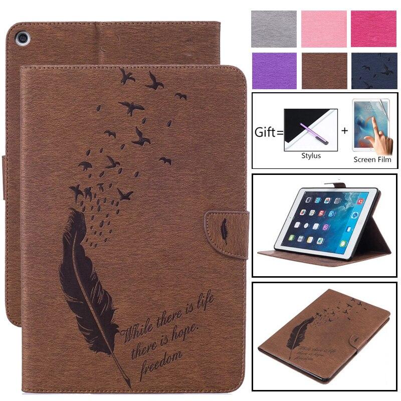 Для Apple Ipad 2 3 4 чехол s из искусственной кожи с откидной подставкой Магнитный чехол-кошелек с отделениями для карт чехол с перьями для iPad2 iPad3 iPad4 противоударный чехол