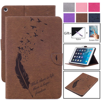 For Apple Ipad 2 3 4 Cases PU Leather Flip Stand Magnetic Wallet Card Slots Feather Case For iPad2 iPad3 iPad4 Shockproof Cover