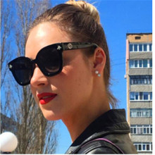 AOXUE Trendy Retro Bee Square Sunglasses Women Luxury Brand Trendy Shades for Women Vintage Modis Black Sun Glasses Female UV400