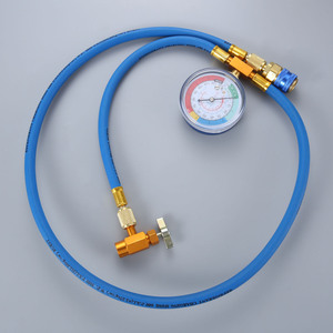 Image 1 - Car AC Air Conditioning R134A Conditioning Refrigerant Recharge Hose w/ Pressure Gauge Can Opener Quick Coupler