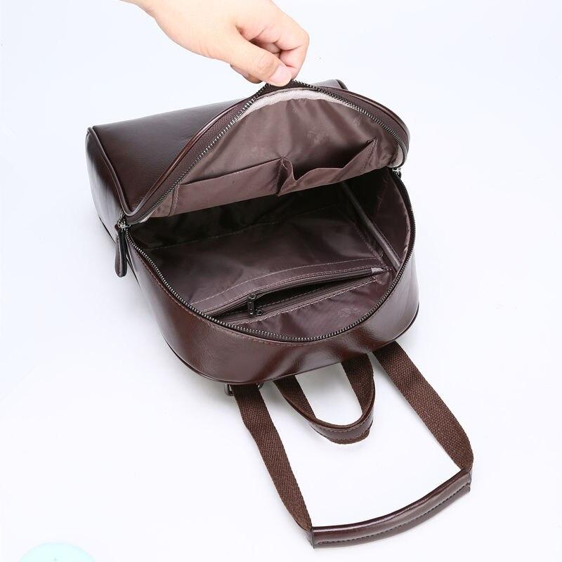Image 4 - ZMQN Vintage Leather Backpack Women 2020 Mochila Feminina Big  Capacity Bagpack School Bags For Teenage Girls Bag For Female  C130Backpacks