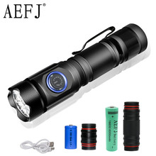 80000lumens most powerful mini tactical led flashlight usb  4*XP-G3 led torch waterproof 18350 or 18650 battery rechargeable