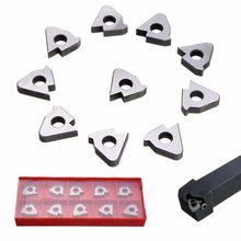10 pçs insere assento do calço para 16er ag6/16irag60 ser/sel com caixa de torneamento ferramenta titular peças carboneto inserções kit