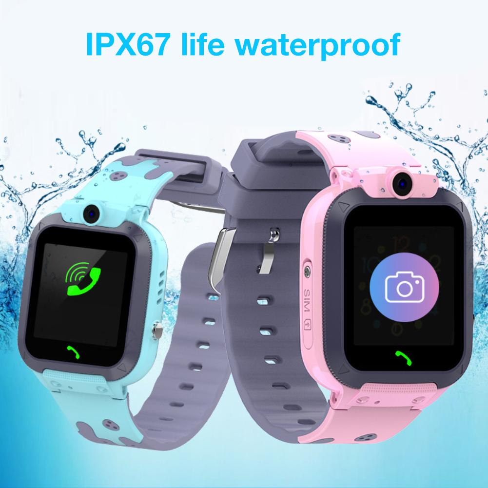 Q16 Life Waterproof Phone Watch Card Smart Childrens With Breathing Light GPS Positioning