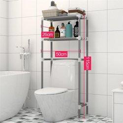2 camadas sobre toalete armazenamento rack titular banheiro espaço saver toalha shampoo organizador titular prateleiras de armazenamento do banheiro 50x26x115cm