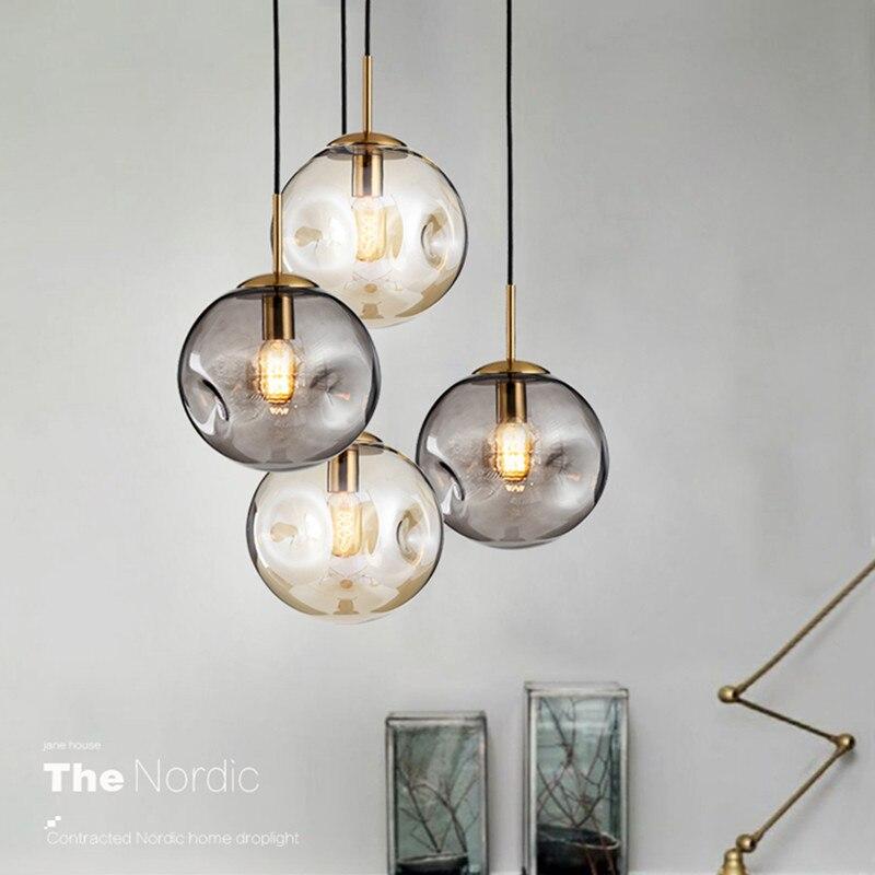 Loft Nordic Criativo Arte Luz Pingente De Vidro Do Vintage Bar Cafe Led Luminárias de Cabeceira do Quarto de Vidro irregular|Luzes de pendentes| |  - title=