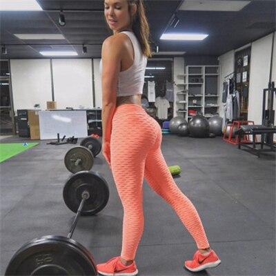 CHRLEISURE Sexy Push Up Leggings Women Fitness Pants High Waist Sport Leggings Anti Cellulite Leggings Workout Black Ladies 14