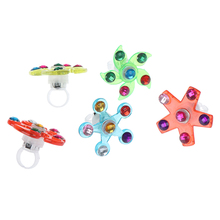 Fidget Spinner Tiny Lighter Gyroscop Flow-Rings Gift Relief 1pc Toy Funny Jumping
