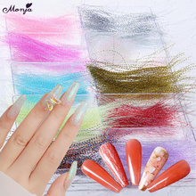 Sticker Holographic Foil-Decals Manicure-Tool Silk-Lines Glitter Colorful Monja 3D 1-Box