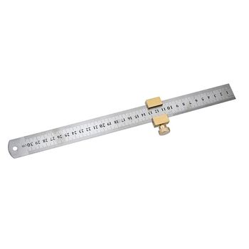 Carpentry Positioning Block Durable Locator with Steel Ruler Woodworking Tools Corner Fixed Universal Gauge Brass Line Scriber carpentry scriber double headed scribe blade woodworking double line marking gauge ruler tools for carpenters