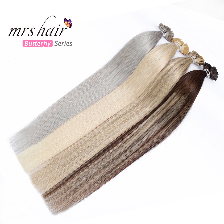 MRSHAIR Pre Bonded Flat Tip Hair Extensions 14
