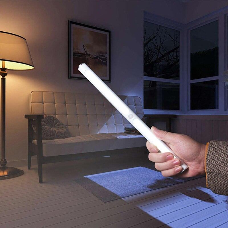 BRELONG светодиодный обучающий светильник с защитой глаз, USB зарядка, алюминиевая трубка, инфракрасная Индукционная лампа для человеческого тела, светильник для шкафа, ночной Светильник