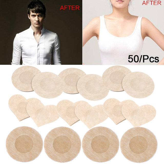 50pcs Women's Invisible Breast Lift Tape Overlays on Bra Nipple Stickers Chest Stickers Adhesivo Bra Nipple Covers Accessories 1