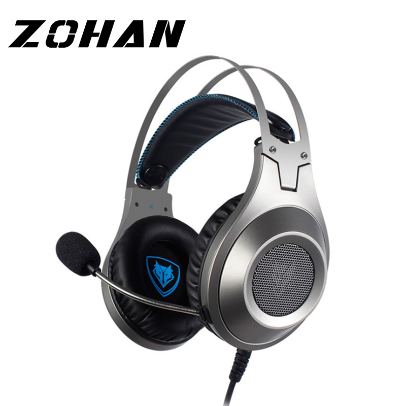 Gaming Headset Vibration Big Earphones & Headphone with Microphone Brand Genuine For gamer with Mic Microphone PC Phone Laptop image
