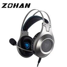 Zohan fone de ouvido para jogos com microfone, para pc gamer e fone de ouvido com microfone genuíno