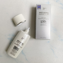 12pcs/lot It Cosmetics Anti-Aging Armour Super Smart Skin Perfecting Beauty Fluid Spf 50+ Uva/Uvb Sunscreen Foundation Primer