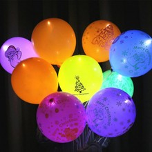 10Pcs/lot  LED Round Mixed-Colors Flashing Ball Lights Luminous Lamps for Bar Christmas Wedding Party Decoration