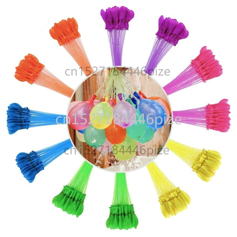 111pcs/bag Filling Water Balloons Funny Summer Outdoor Toy Balloon Bundle Water Balloons Bombs Novelty Gag Toys For Children