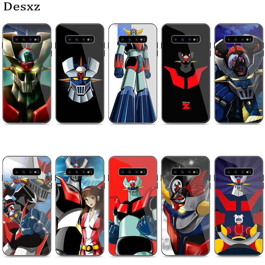 Phone Case Glass for Samsung A40 A50 A10 A20 A30 A60 A70 S10 S7 Edge S8 S9 Plus Note 8 9 Cover Mazinger Z