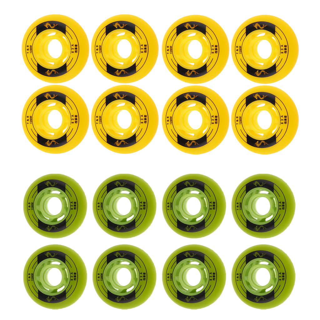 8Pcs/Set Indoor Outdoor Roller Hockey Inline Skate Wheels Grip Sports Parts Replacement Accessories 76mm