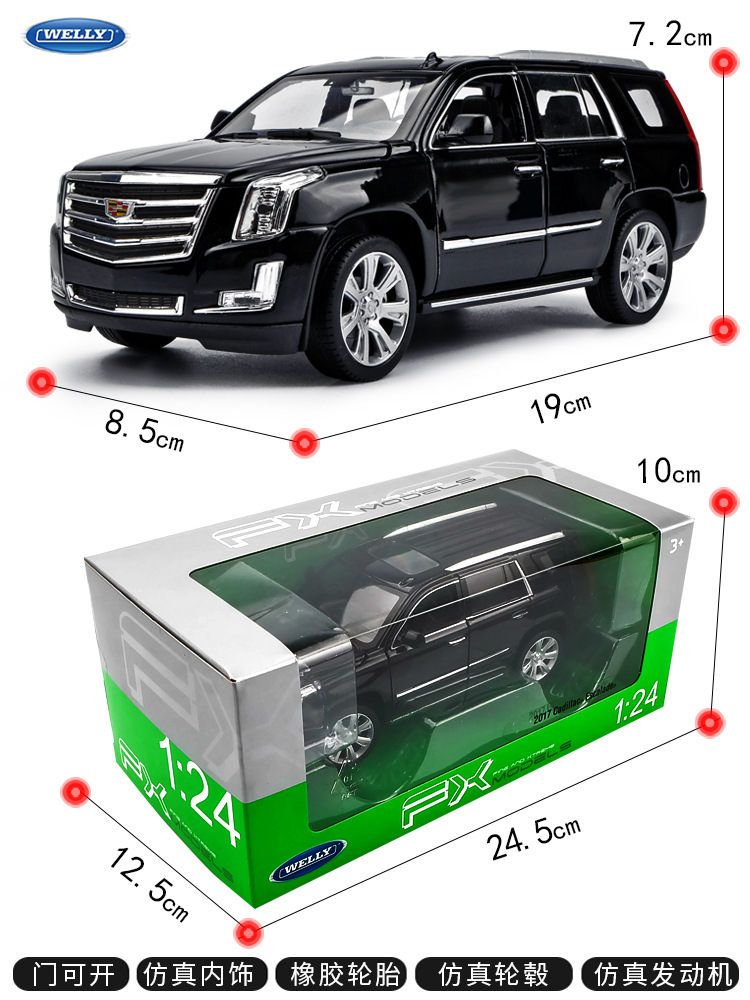 welly 1 24 2017 Cadillac Escalade car alloy car model simulation car decoration collection gift toy Die casting model boy toy in Diecasts Toy Vehicles from Toys Hobbies