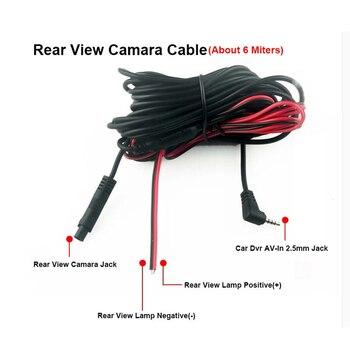 Visão noturna 4 lâmpadas led câmera reversa hd cdd vista traseira camara lente 2.5mm jack com 6 mitras cabo para carro dvr espelho gravadores