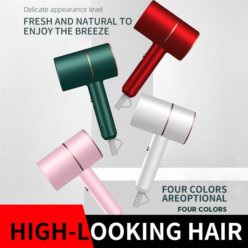 Hair Dryer Household Hair Dryer Heating and Cooling Air Hair Dryer Household Appliances High Power Blue Light Anion European Sta