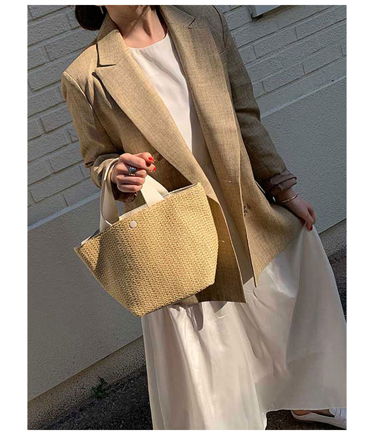 Woven Straw Beach Bag for Women 2021