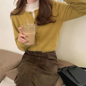 Ailegogo New 2020 Women's Sweaters Autumn Winter Fashionable Korean Style Wild Knitted Buttons Cardigans Lady Knitwear SWC1043 3