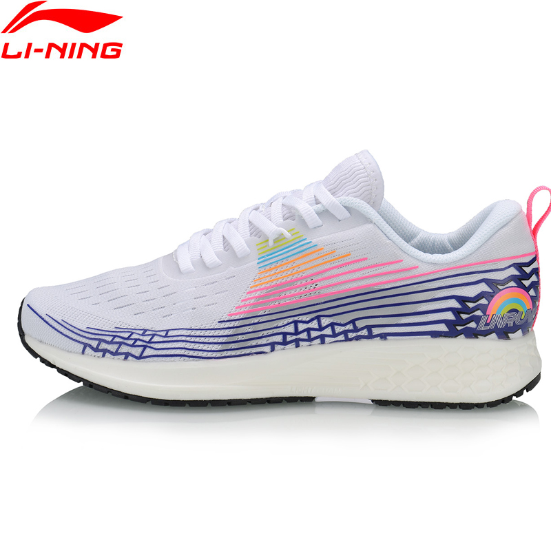Li-Ning Women BASIC RACING SHOES Light Running Shoes Marathon TPU Support LiNing Li Ning Sport Shoes Sneakers ARBP046 XYP907