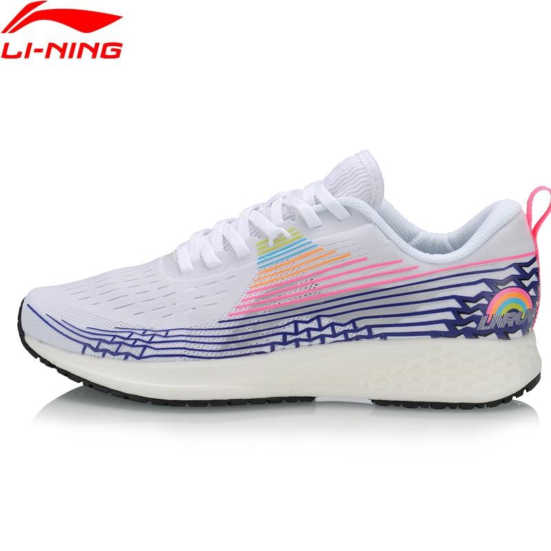 Li-Ning Women BASIC RACING SHOES Light Running Shoes Marathon TPU Support LiNing Li Ning Sport Shoes Sneakers ARBP046 XYP907
