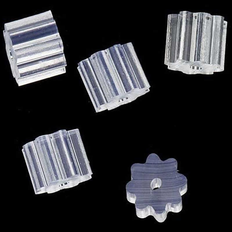 50 sztuk mała przezroczysta guma gwiazda zatrzask kolczyka bezpieczeństwa kolczyk korek Earnut Hook kolczyk kobiety biżuteria akcesoria