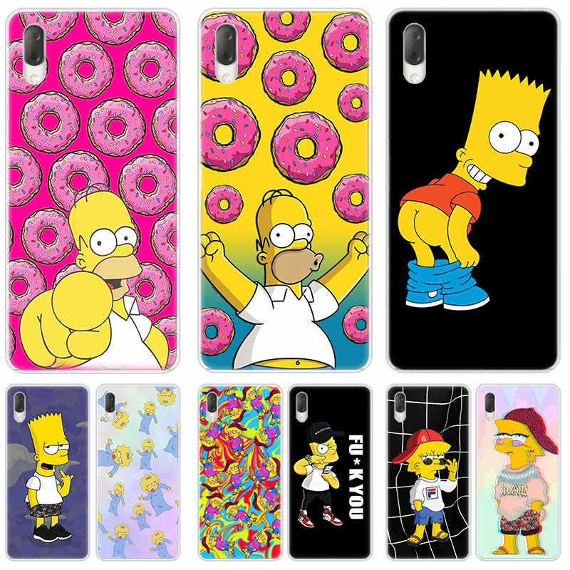 The Simpson Hard Case For Sony Xperia L1 L2 L3 X XA XA1 XA2 Ultra E5 XZ XZ1 XZ2 Compact XZ3 M4 Aqua Z3 Z5 Premium Fashion Cover
