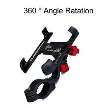 Black Color 360° Phone Holder CNC Aluminum Alloy Bracket Mount Stand for Motorcycle Bicycle MTB universal motorcycle cnc aluminum clutch cable wire adjuster for suzuki gsxr1000 gsxr600 gsxr750 gsr400 gsr600 gsr750